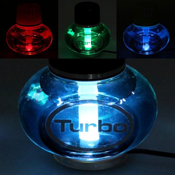 Turbo Lufterfrischer New Car mit Poppy 7 LED Beleuchtung 12V 24V LKW Auto KFZ Wohnwagen