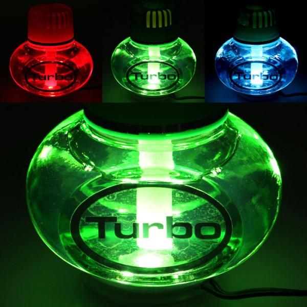Turbo Lufterfrischer Lemon mit Poppy 7 LED Beleuchtung 12V 24V LKW Auto KFZ Wohnwagen