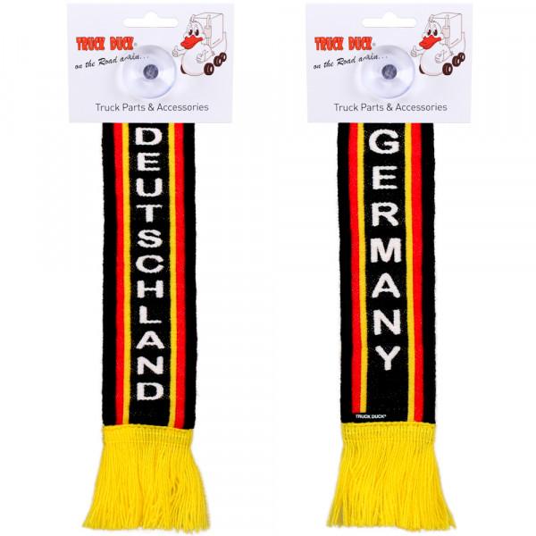 LKW Auto Minischal Deutschland Germany Mini Schal Wimpel Saugnapf Anhänger Spiegel Deko Flagge