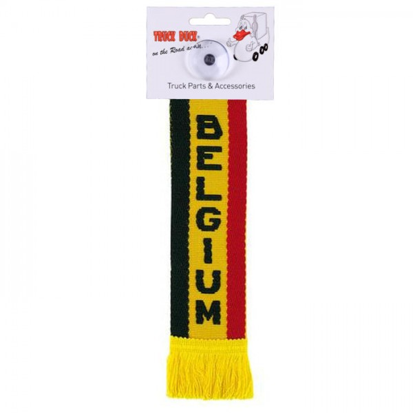 LKW Auto Minischal Belgium Belgien Mini Schal Wimpel Saugnapf Spiegel Deko Flagge Fahne