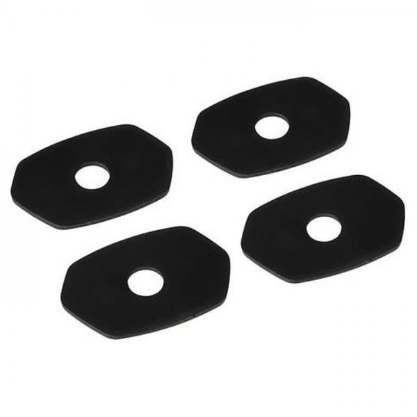 4x Adapter Adapterplatten Montageplatten LED Blinker-Platten Set für Kawasaki ab 2012 >
