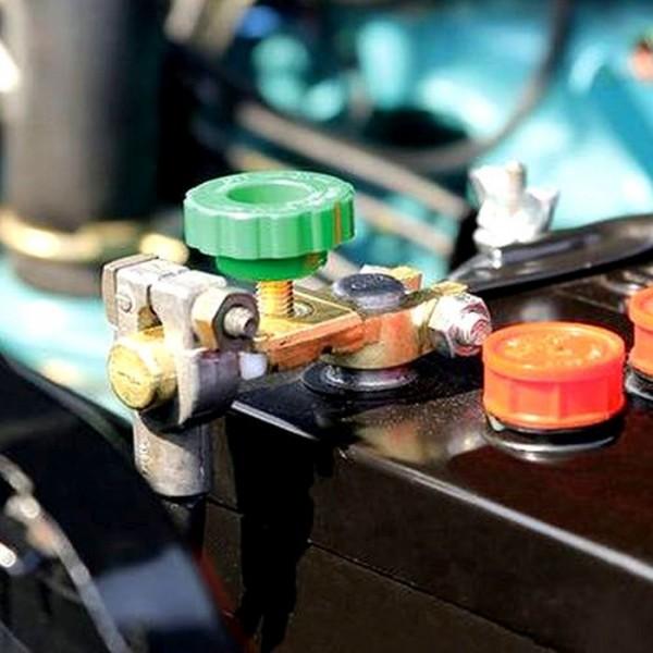 Auto Batterie Trenner Unterbrecher Stop Haupt Trenn Schalter Pol Klemme 6V 12V 24V