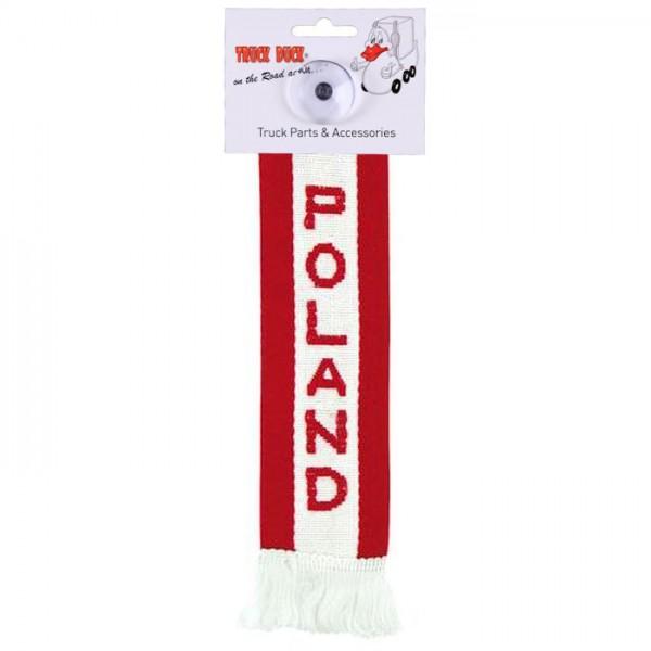 LKW Auto Minischal Polen Poland Mini Schal Wimpel Saugnapf Anhänger Spiegel Deko Flagge