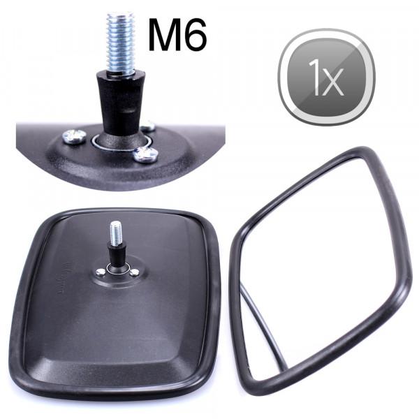 1x Universal Rückspiegel 232x145mm M6 Gewinde Außenspiegel Seitenspiegel Traktor Bagger LKW KFZ