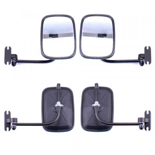 2x Rückspiegel Außenspiegel 175x120mm mit Spiegelarm Seitenspiegel Set Traktor Bagger LKW KFZ Bus