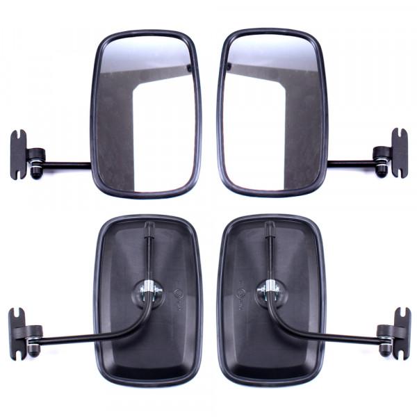 2x Rückspiegel Außenspiegel 235x145mm mit Spiegelarm Seitenspiegel Set Traktor Bagger LKW KFZ Bus