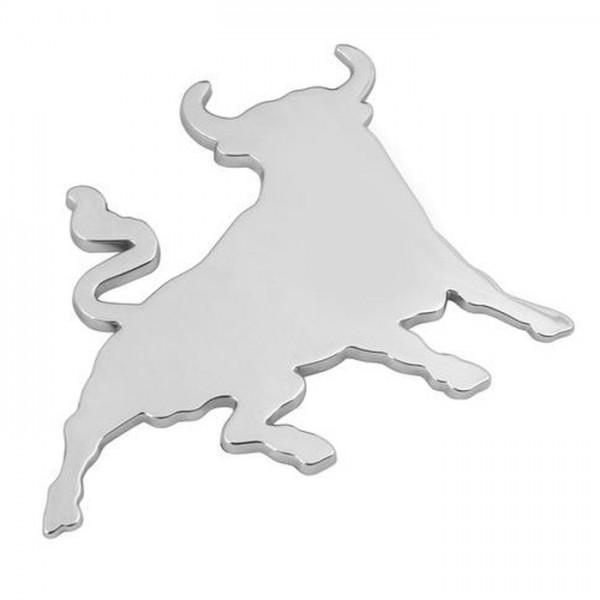 3D Bulle Stier Emblem Chrom Schriftzug Auto LKW KFZ Aufkleber Sticker Motorhaube Kotflügel