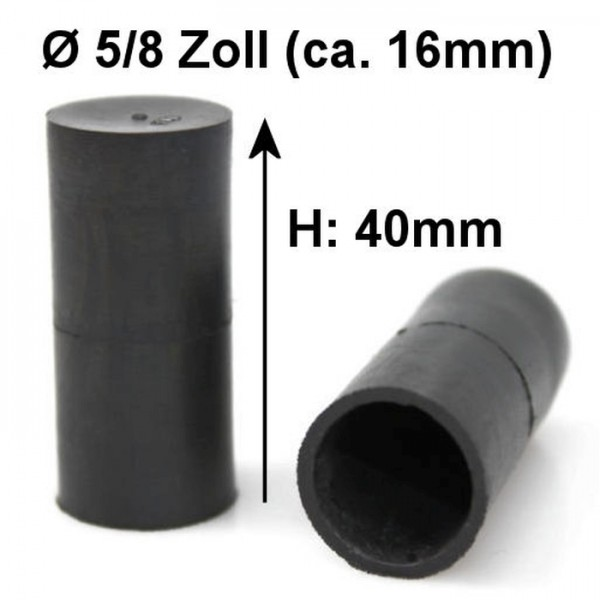 5/8 Zoll 16mm Kappe Gummikappe Schutzkappe Blindstopfen Endstück Stopfen Gewinde
