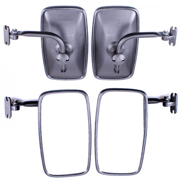 2x Rückspiegel Außenspiegel 285x155mm mit Spiegelarm Seitenspiegel Set Traktor Bagger LKW KFZ Bus