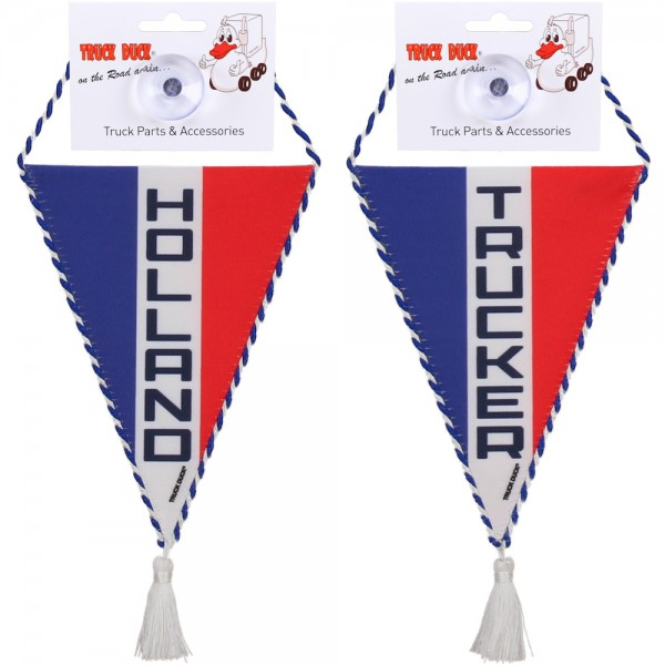 LKW Auto Wimpel Holland Trucker mit Saugnapf Spiegel Deko Mini Schal Flagge Fahne Banner