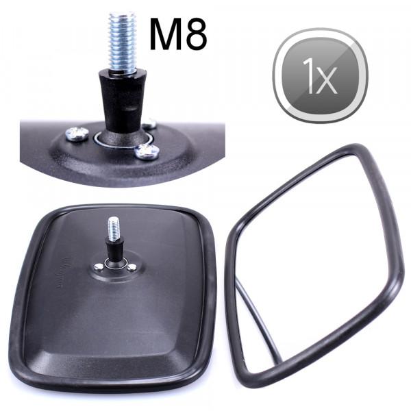 1x Universal Rückspiegel 232x145mm M8 Gewinde Außenspiegel Seitenspiegel Traktor Bagger LKW KFZ