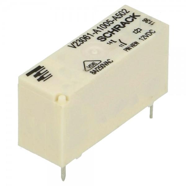 Schrack Relais MSR V23061-A1005-A502 12V DC max 250V/8A Miniatur Starkstrom U Spule