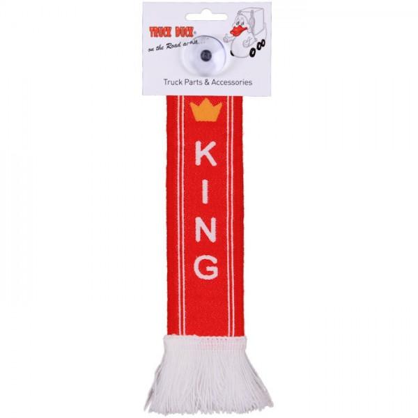 LKW Auto Minischal King Krone Trucker Mini Schal Wimpel Saugnapf Spiegel Deko Flagge Fahne