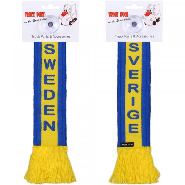 LKW Auto Minischal Schweden Sweden Trucker Mini Schal Wimpel Saugnapf Spiegel Deko Flagge Fahne